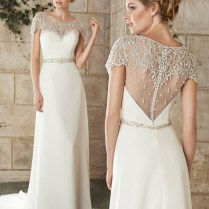 Friday Favorite Jeweled Cap Sleeve Wedding Dress Love Maggie Blog