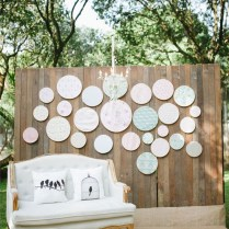 Gallery Rustic Wedding Backdrop With Printed Embroidery Hoops