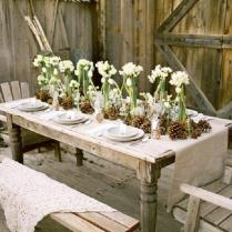 Gallery Rustic Wedding Table Ideas With Burlap, Pinecones And