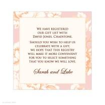 Gift Registry Wording For Wedding Invitations