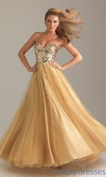Gold Glitter Wedding Gown