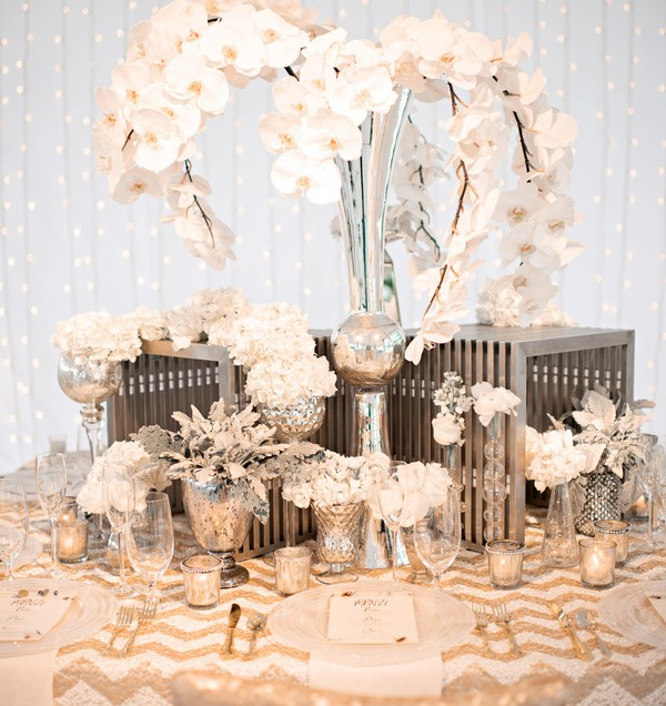 Gold, Silver And Cream Wedding Color Inspiration