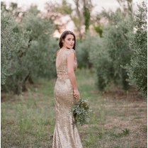 Gold Wedding Dress Inspiration Shoot In French Provence
