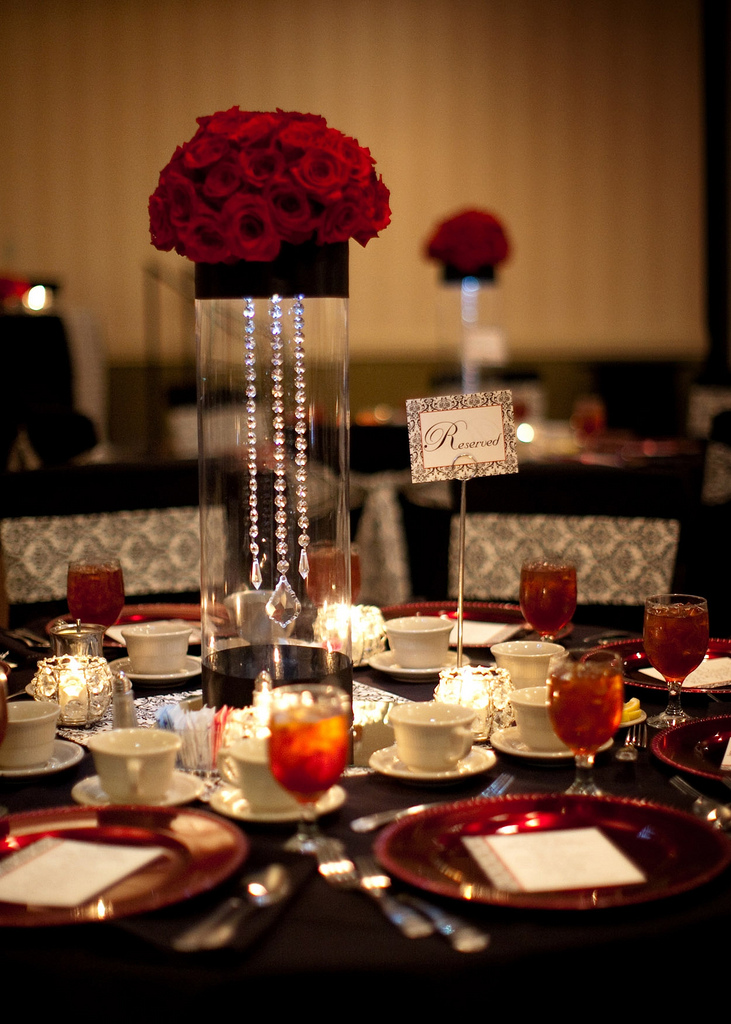 Black Red Wedding Centerpieces