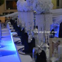 Gorgeous Wedding Flower Stand Centerpiece With Hanging Crystal