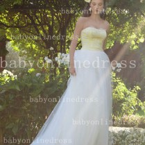 Graceful Wedding Dresses Floor Length Strapless Sweetheart A