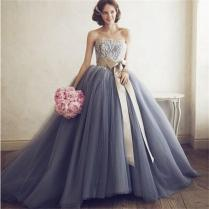 Grey Wedding Dress Online Shopping