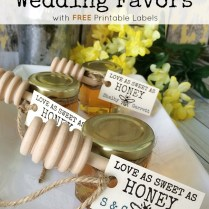 Honey Jar Wedding Favors With Free Printable Labels