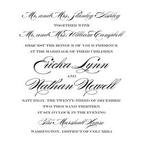 How To Word A Wedding Invitation