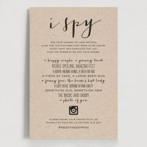 I Spy Wedding Game, Wedding Hashtag, Wedding Game, Hashtag Sign