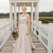 Items Similar To Champagne And Ivory Lace Wedding Dress With Fit