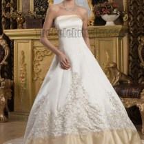 Ivory Lace Deep V Back With Stunning Ivory And Champagne Wedding
