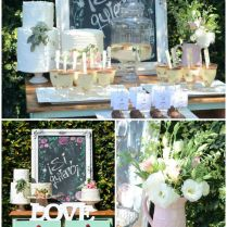 Kara's Party Ideas Rustic Chic Bridal Shower
