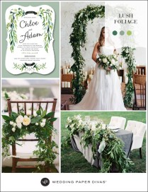Lush Green Nature Themed Wedding Ideas