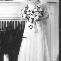 Marilyn Monroe (then Named Norma Jeane Mortenson) At First Wedding