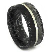 Mens Meteorite Wedding Ring