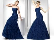 Midnight Blue Wedding Dresses Photo