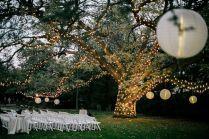 Moonlight Pennsylvania Wedding Under A Sparkling Tree At Aldie