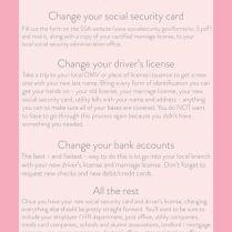 Name Change Checklist