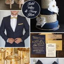 Navy Blue & Gold Wedding Color Palette