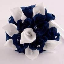 Navy Blue Flowers For Weddings On Wedding Flowers With Brides Posy