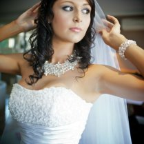 Necklace With Wedding Dress