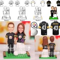 New Pittsburgh Steelers Football Wedding Cake Toppers Nfl Groom