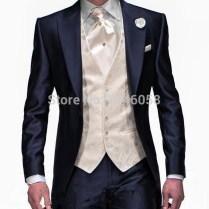 Online Get Cheap Blue 3 Piece Wedding Suit