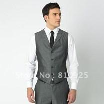Online Shop Groom Vests Gray!wedding Dinner Suit For Men Five