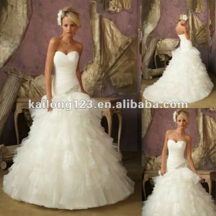 Organza Tulle Wedding Dress