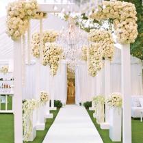 Outdoor Wedding Ceremony, Aisle & Reception Decor 2257512