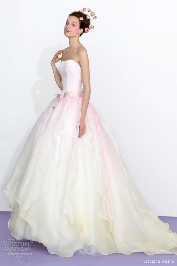 Pastel Pink Wedding Dress