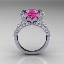 Pink Diamond Engagement Rings Rose Gold