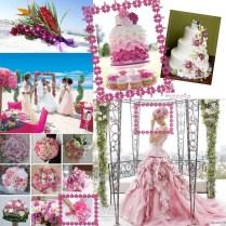 Pink Theme For Beach Wedding