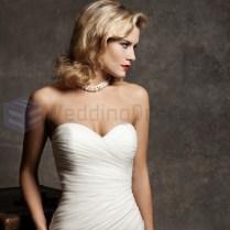 Pleated Sweetheart Wedding Dress