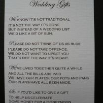Poem For Wedding Invitation Asking Money