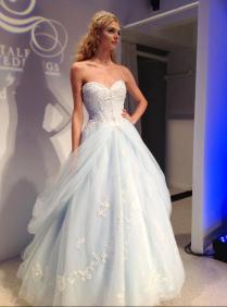 Popular Light Blue Wedding Gown