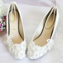 Popular White Wedding Ballet Flats