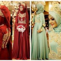 Pretty Designs Of Turkish Hijab Wedding Abaya Costumes
