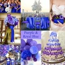 Purple And Blue Wedding Reception Ideas