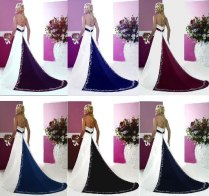 Purple And Ivory Wedding Dresses