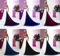 Purple And Ivory Wedding Dresses