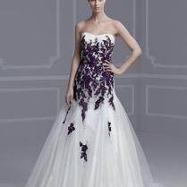 Purple And White Wedding Dresses With Straps Naf Dresses