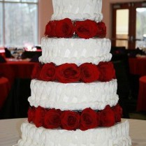 Red White And Black Wedding Cake Ideas