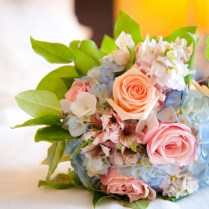 Romantic Spring Wedding Bouquet Of Roses And Hydrangea