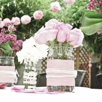 Romantic Wedding Centerpieces Mason Jars