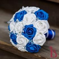Royal Blue White Crystals Bouquet (more Colors)