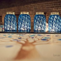 Rustic Chic Wedding Decor Mason Jar Centerpieces