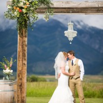 Rustic Wedding Archway Top Montana Wedding Photographers