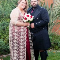 Scottish Red Wedding Dress